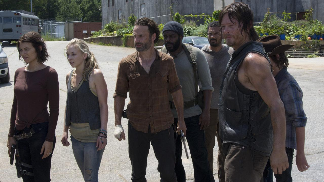 A scene from the mid-season 4 finale of AMCs The Walking Dead.