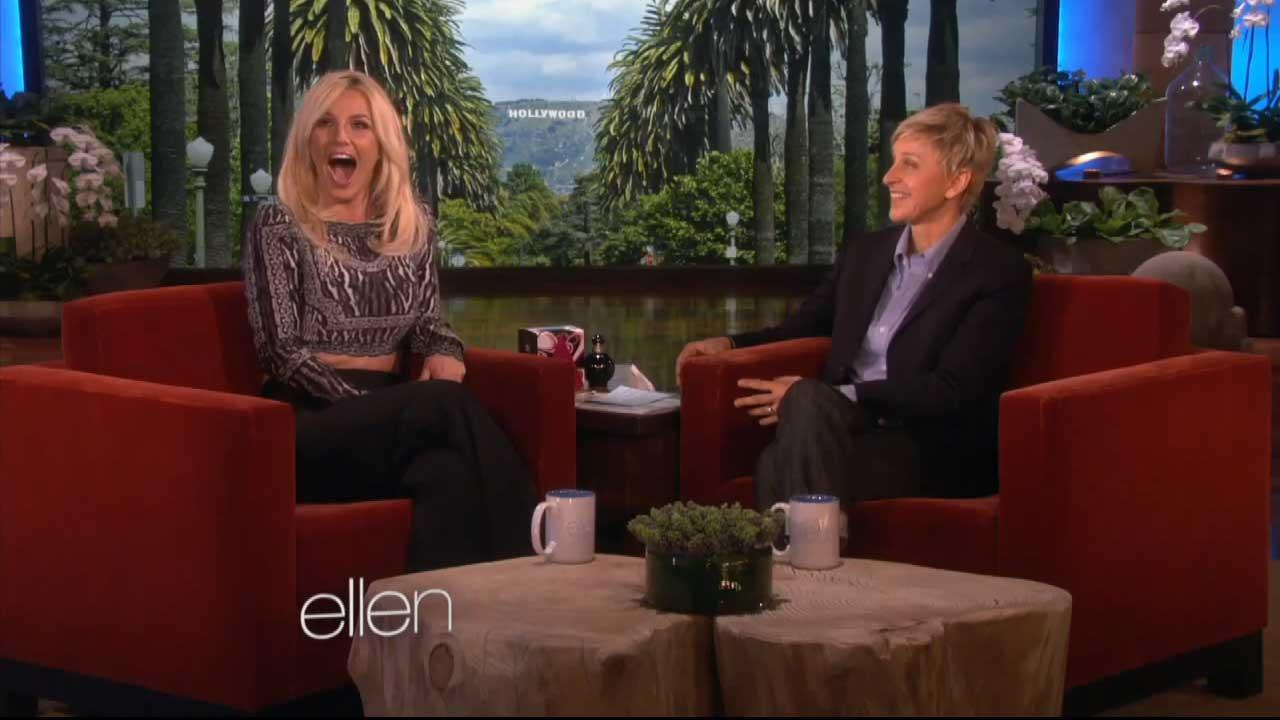 Britney Spears appears on The Ellen DeGeneres Show on Dec. 3, 2013.