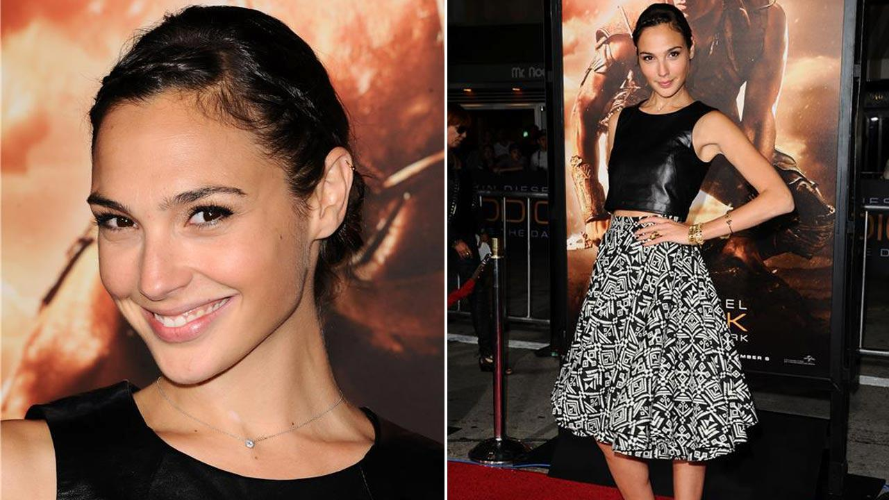 Gal Gadot was cast as Wonder Woman in Batman Vs. Superman on Dec. 4, 2013. The actress appears at the Riddick Los Angeles premiere on Aug. 28, 2013.