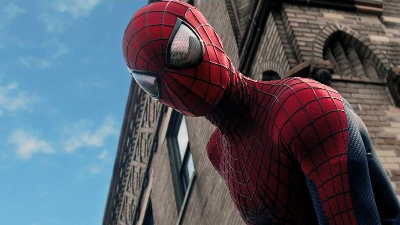 Andrew Garfield appears as Spider-Man in the trailer for the 2014 film The Amazing Spider-Man 2.