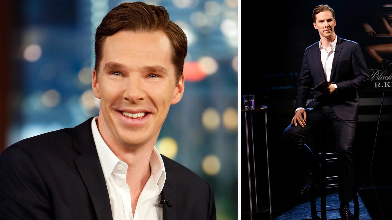 Benedict Cumberbatch appears on Jimmy Kimmel Live! on Dec. 4, 2013.