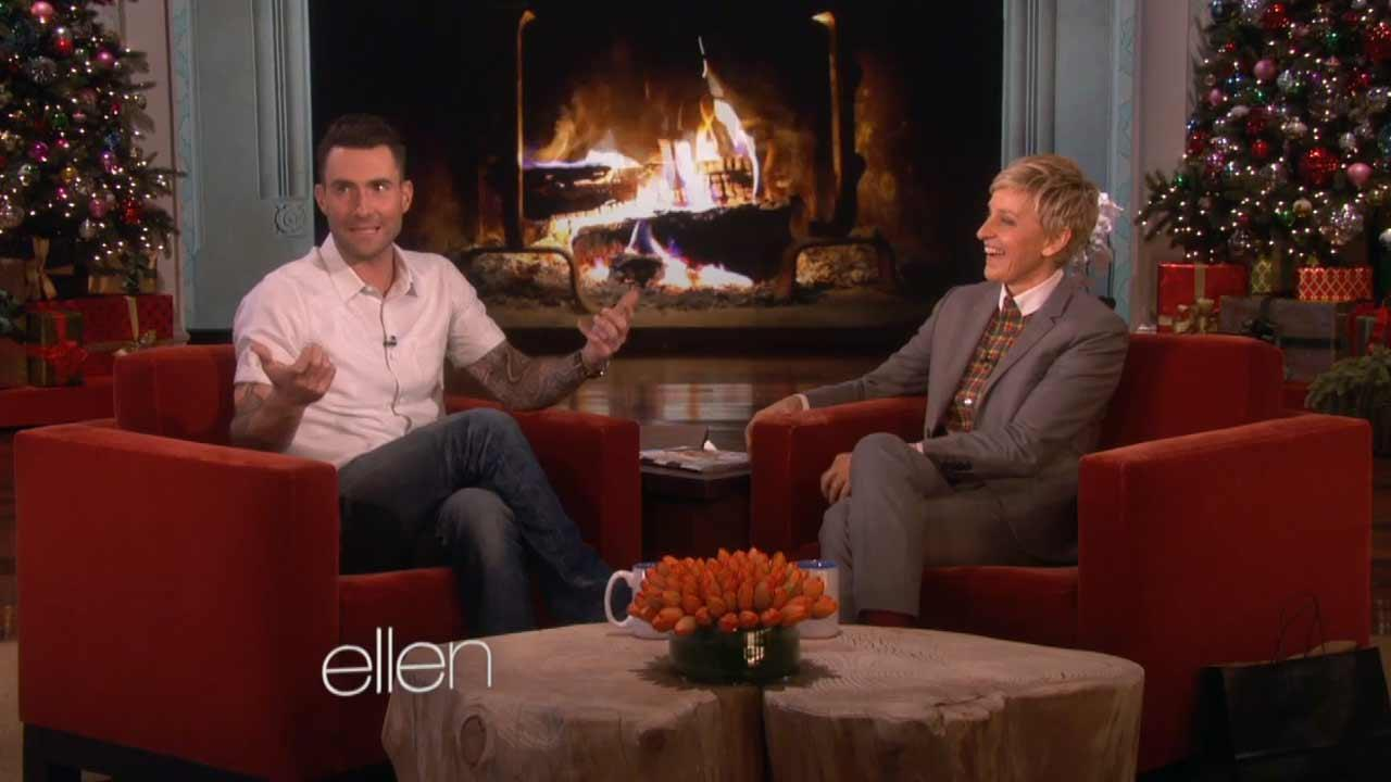 Adam Levine appears on The Ellen DeGeneres Show on Dec. 5, 2013.