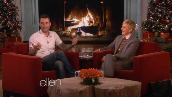 Adam Levine appears on The Ellen DeGeneres Show on Dec. 5, 2013. - Provided courtesy of The Ellen DeGeneres Show