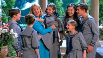 Joe West as Kurt, Carrie Underwood as Maria, Peyton Ella as Gretl, Ariane Rinehart as Liesl, Grace Rundhaug as Marta, Michael Nigro as Friedrich appear in a scene from The Sound of Music Live!, which aired on Dec. 5, 2013. - Provided courtesy of Will Hart/NBC