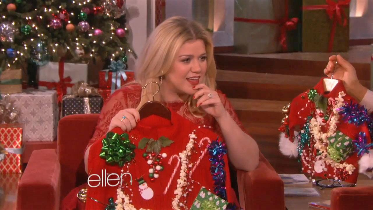 Kelly Clarkson appears on The Ellen DeGeneres Show on Dec. 6, 2013.