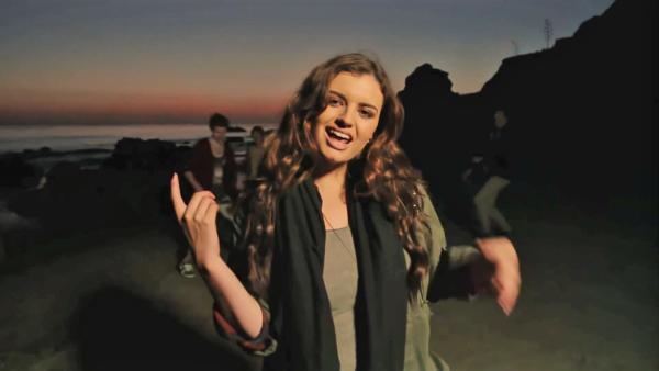 Rebecca Black appears in a still from her music video, Saturday. - Provided courtesy of YouTube.com/Rebecca
