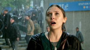 Elizabeth Olsen appears in a scene from the 2014 movie Godzilla. - Provided courtesy of Warner Bros. Pictures / Legendary Pictures