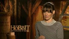 Evangeline Lilly talks with OTRC.com about The Hobbit 2, in theaters on Dec. 13, 2013. - Prov