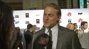 Charlie Hunnam appears in an interview with OTRC.com at the premiere of season 6 of Sons of Anarchy on Sept. 7, 2013. - Provided courtesy of OTRC