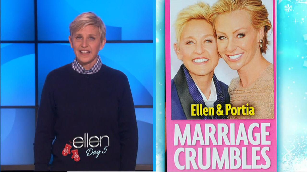 Ellen DeGeneres appears on The Ellen DeGeneres Show on an episode which aired on Dec. 11, 2013.
