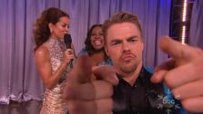 Reigning champ Derek Hough gets his feet wet with fans for Dancing With the Stars at Sea - Provided courtesy of OTRC