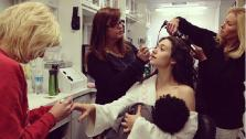Emmy Rossum parodies Gisele Bundchens breastfeeding photo. Rossum appears in a photo posted on her official Instagram page on Dec. 11, 2013. - Provided courtesy of Instagram.com/emmyrossum