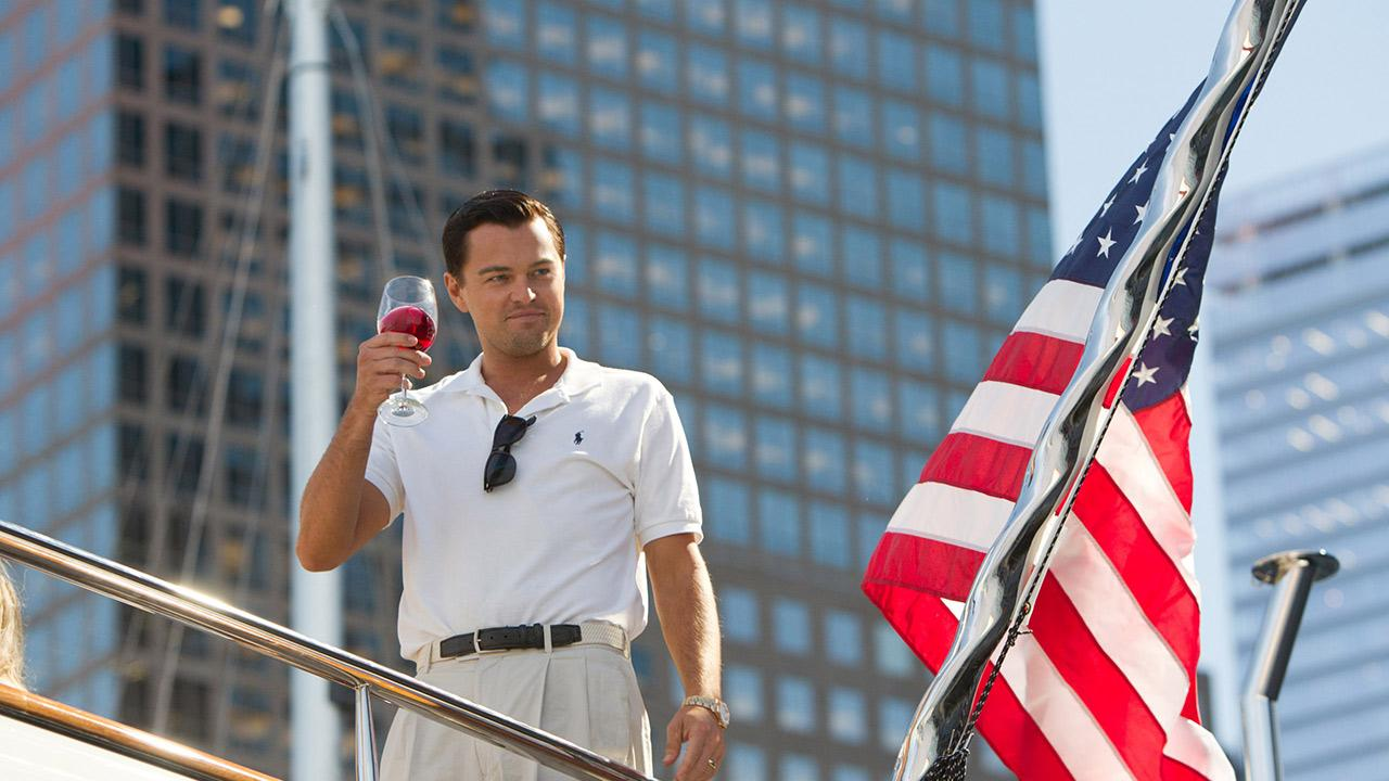 Leonardo DiCaprio appears in a scene from the 2013 movie The Wolf of Wall Street. He plays main character Jordan Belfort, whose career is derailed by crime and corruption.Mary Cybulski / Paramount Pictures