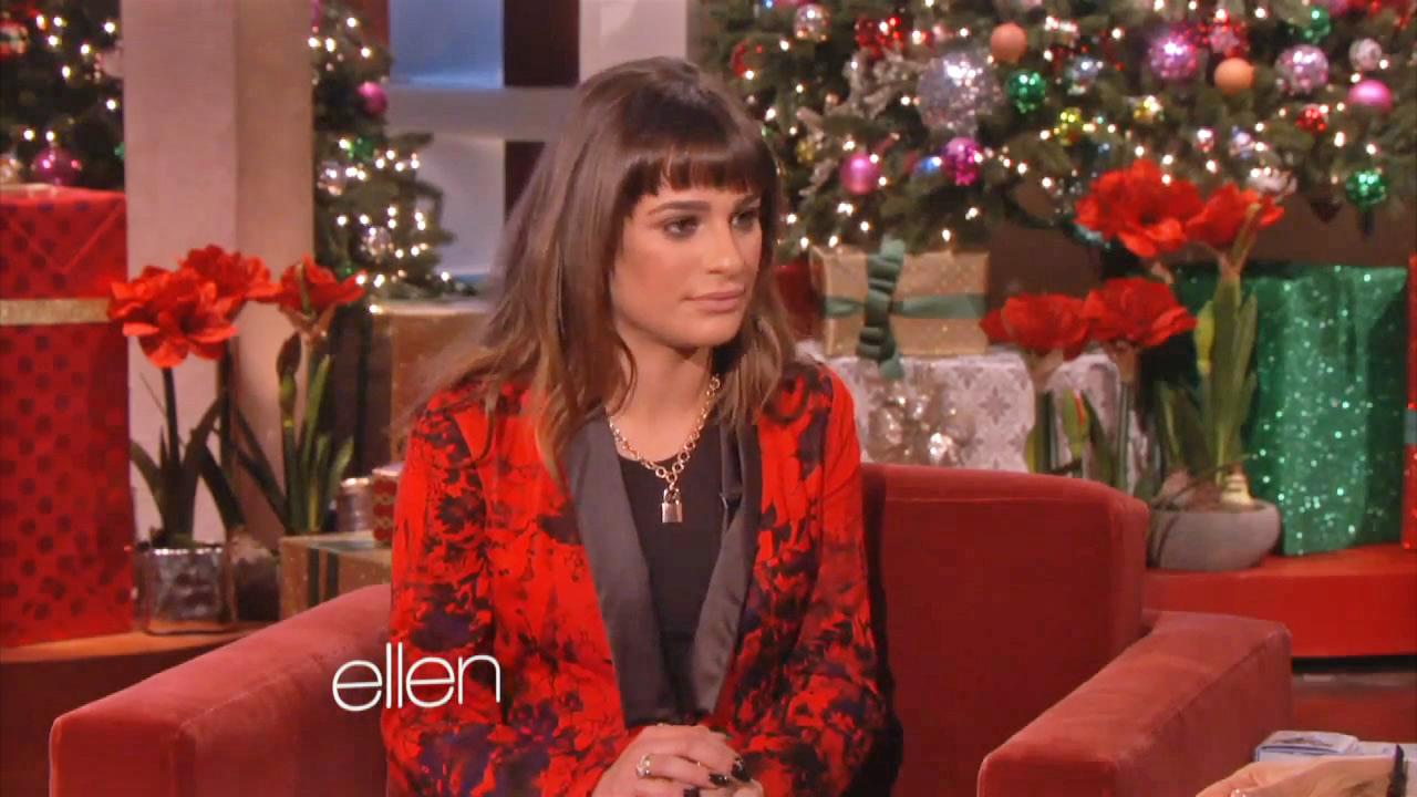 Lea Michele talked about Cory Monteith during her appearance on an episode of The Ellen Degeneres Show, which aired on Dec. 12, 2013.