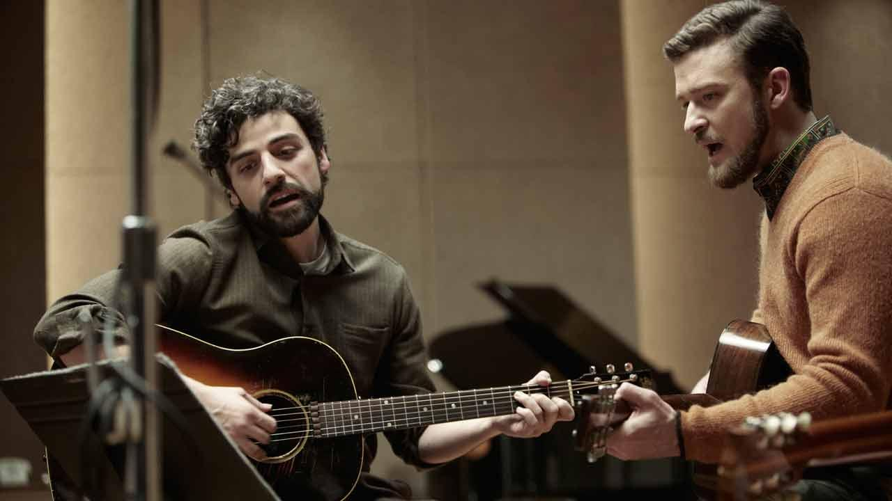 L-R -- Oscar Isaac appears with Justin Timberlake in a still from the film Inside Llewyn Davis.CBS Films