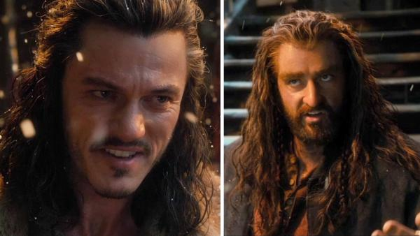 Luke Evans appears as Bard and Richard Armitage appears as Thorin in a scene from the 2013 movie The Hobbit: The Desolation of Smaug, which was released on Dec. 13, 2013.