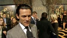 Luke Evans talks to OTRC.com at the world premiere of The Hobbit: The Desolation of Smaug on Dec. 2, 2013. The movie  was released on Dec. 13, 2013. He plays Bard the Bowman. - Provided courtesy of OTRC