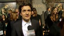 Orlando Bloom talks to OTRC.com at the world premiere of The Hobb