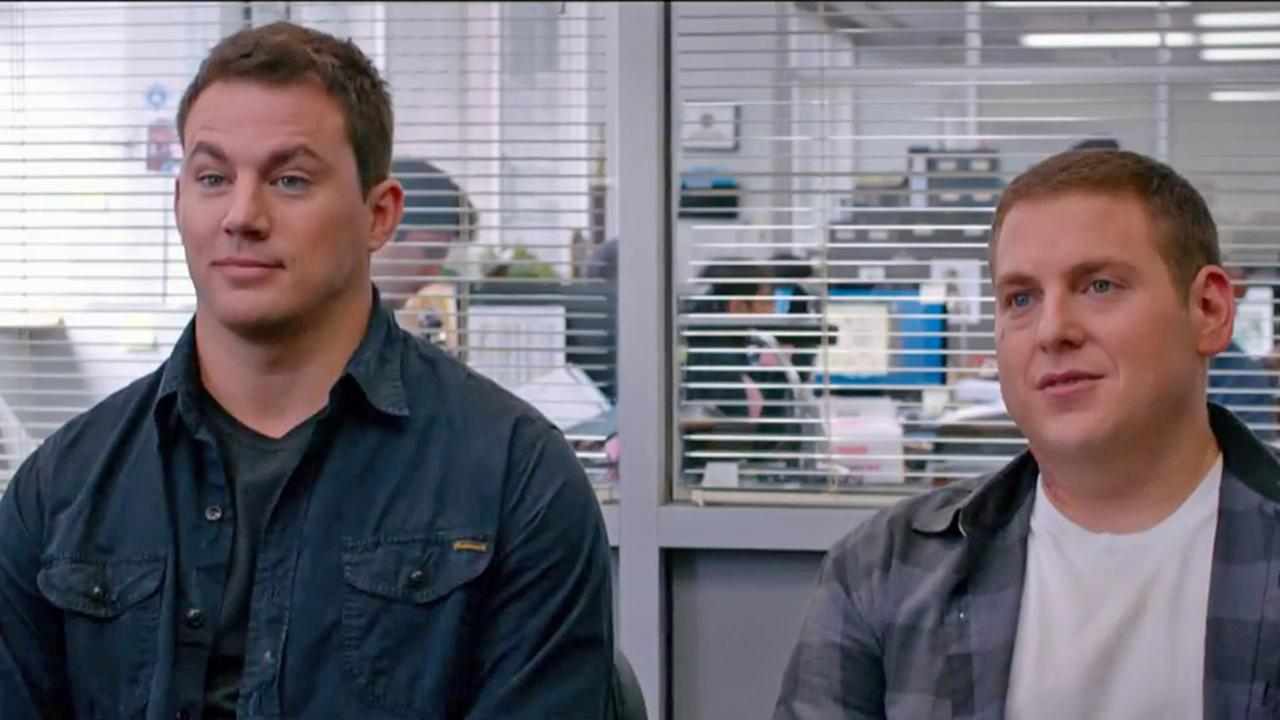Channing Tatum and Jonah Hill appear in a scene from the 2014 movie 22 Jump Street, the sequel to 21 Jump Street. A red-band trailer for the new movie was released on Dec. 16, 2013.