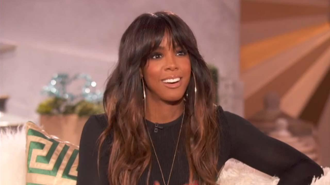 Kelly Rowland appears on an episode of The Queen Latifah Show on Dec. 17, 2013.