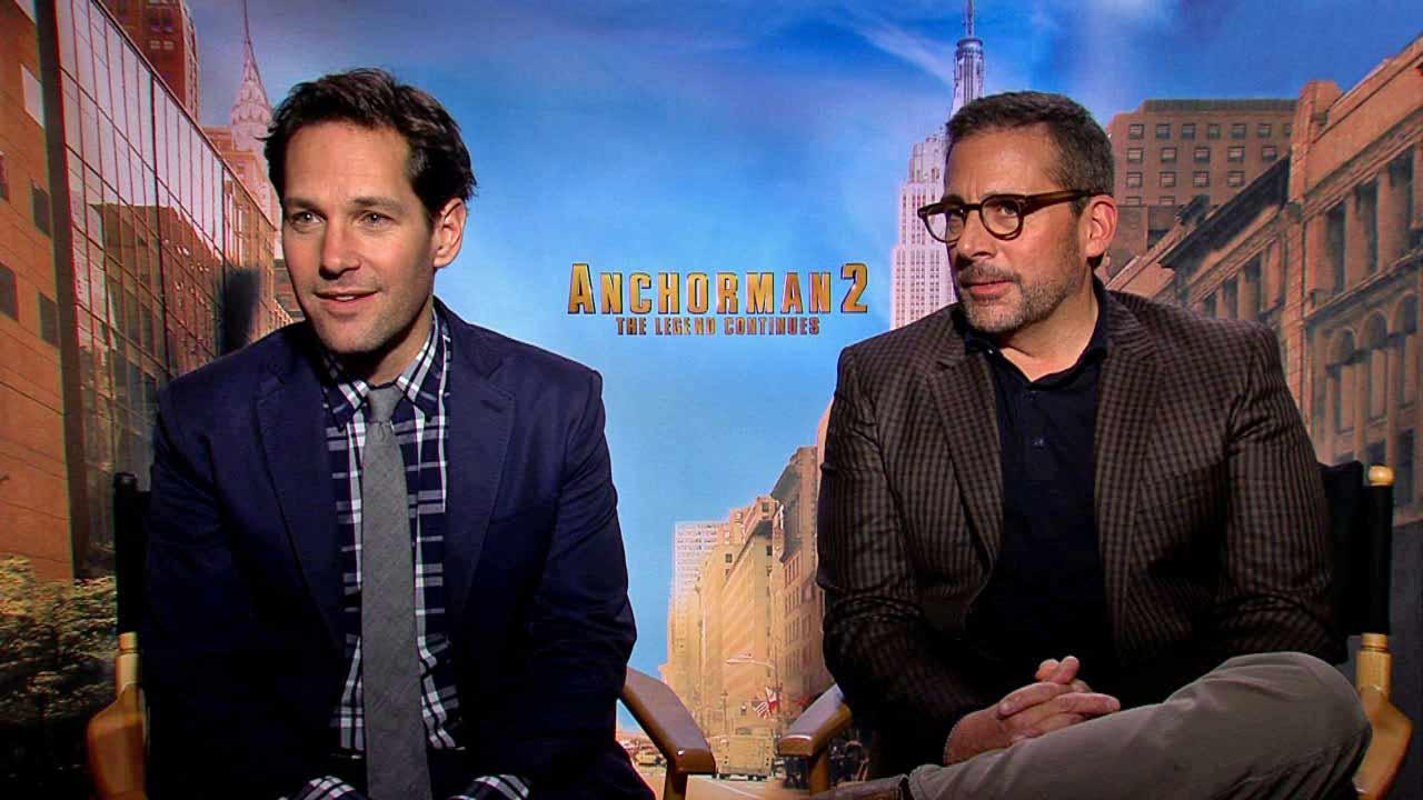 Paul Rudd and Steve Carell to OTRC.com about the 2013 comedy film Anchorman 2. (December 2013 interview)