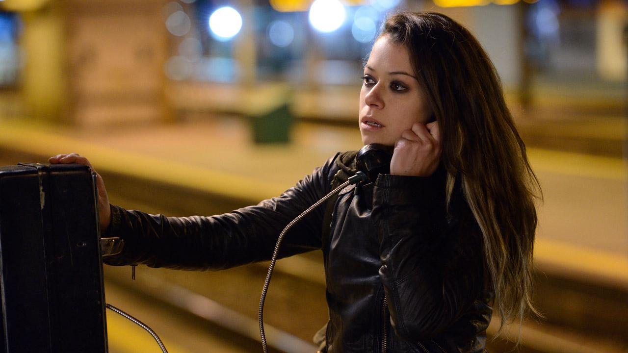 Tatiana Maslany appears in a promotional photo for season 1 of Orphan Black in 2013.