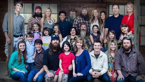 Duck Dynasty patriarch Phil Robertson and his family appear in a photo posted on duckcommander.com. They issued a statement on Dec. 19, 2013 in response to Robertsons suspension from the show over anti-gay remarks he made in a GQ magazine interview. - Provided courtesy of duckcommander.com