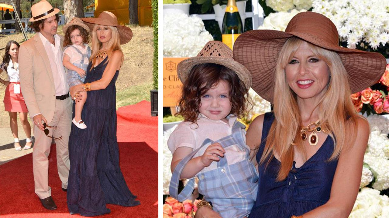 Rachel Zoe, who is pregnant here, husband Rodger Berman, and son Skyler appear at the fourth annual Veuve Clicquot Polo Classic event at Will Rogers State Historic Park in Pacific Palisades, California on Oct. 5, 2013.