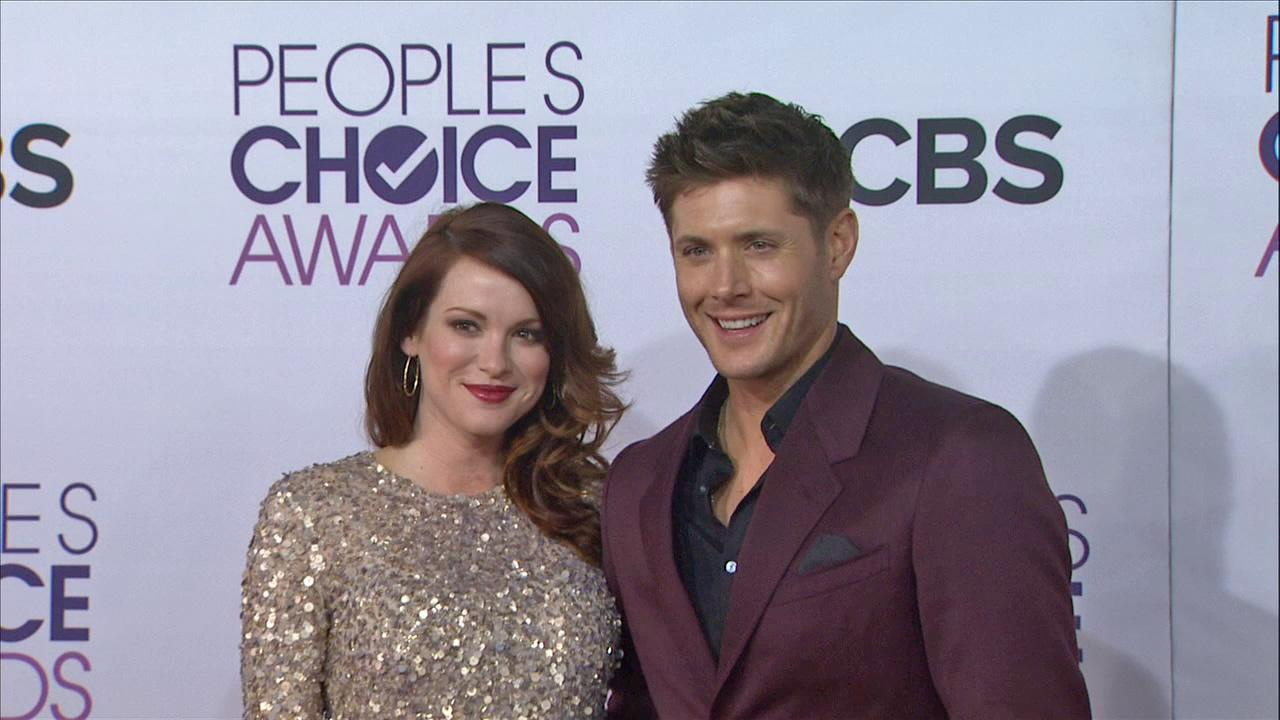 Supernatural actor Jensen Ackles and wife Danneel Harris attend the 2013 Peoples Choice Awards on Jan. 9, 2013 in Los Angeles.