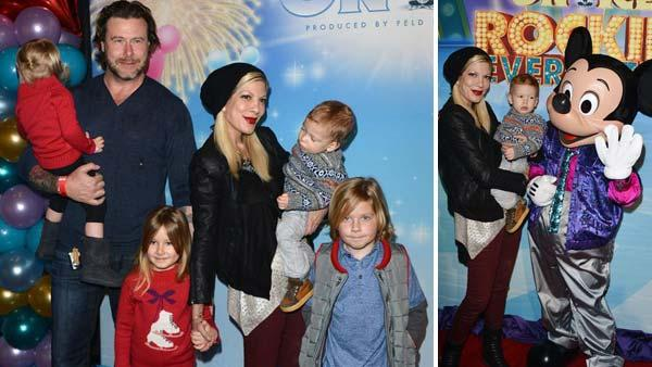 Tori Spelling, Dean McDermott and their children appear at Disney on Ice present Rockin Ever After in Los Angeles, California on Dec. 12, 2013. - Provided courtesy of Tony DiMaio / startraksphoto.com