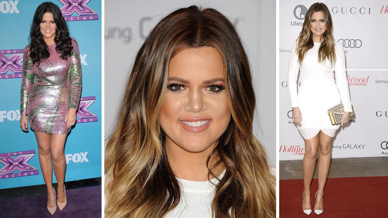 Khloe Kardashian attends the Hollywood Reporters 2013 Women In Entertainment Breakfast in Beverly Hills, California on Dec. 11, 2013. / Khloe Kardashian attends the finale of The X Factor in Los Angeles on Dec. 20, 2012.Daniel Robertson / Giulio Marcocchi / Startraksphoto.com