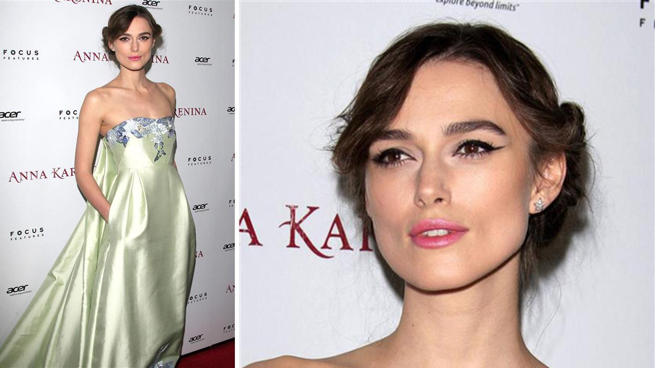 Keira Knightley appears at the premiere of Anna Karenina in Los Angeles on Nov. 14, 2012.