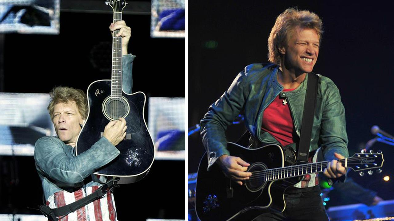 Jon Bon Jovi performs with Bon Jovi in Anaheim, California on Oct. 9, 2013. The band earned the No. 1 spot on Pollstars list of top-grossing tours of 2013. / Jon Bon Jovi performs with Bon Jovi in Madrid, Spain on June 27, 2013.