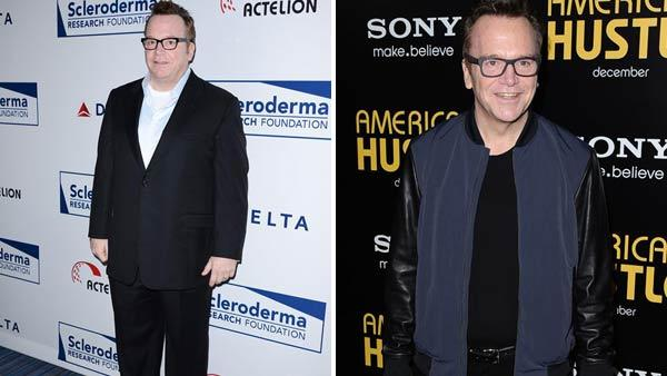 Left -- Tom Arnold at the Scleroderma Research Foundation Cool Comedy event in Los Angeles, California on April 30, 2013. Right -- Tom Arnol