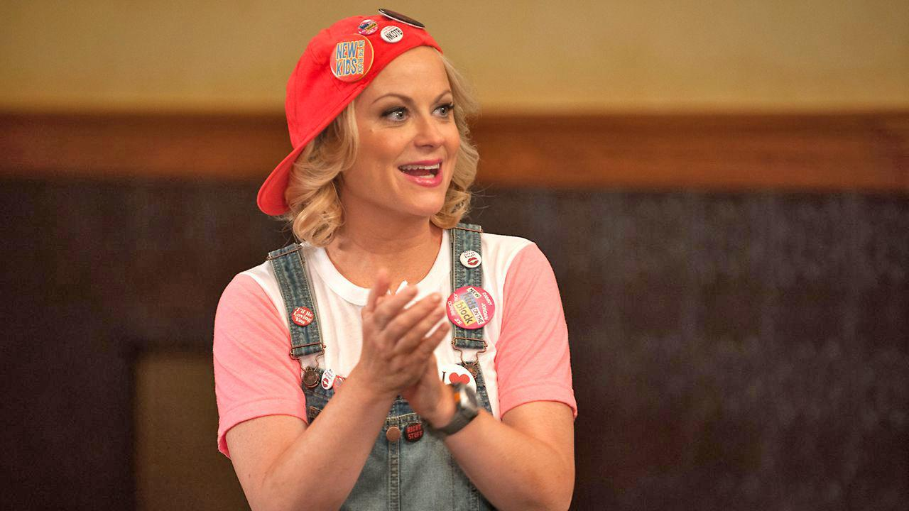 Amy Poehler appears in a scene from the Parks and Recreation episode Filibuster, which aired on Oct. 24, 2013.