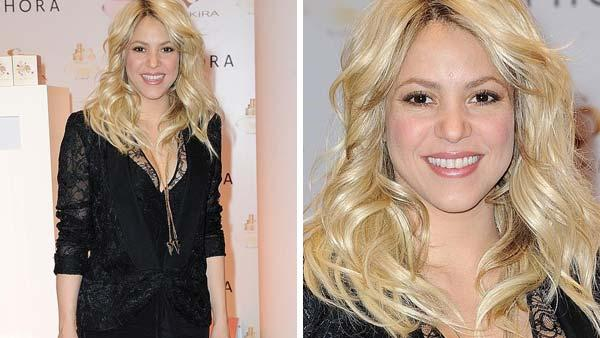 Shakira appears at the launch of her fragrance S by Shakira in Paris, France on March 27, 2013. - Provided courtesy of Nicolas Briquet / startraksphoto.com