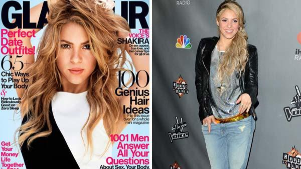 Shakira appears on the February 2014 issue of Glamour Magazine. Shakira appears at The Voice season 4 red carpet in Los Angeles, California on May 8, 2013. - Provided courtesy of Nicolas Moore / Glamour / Sara De Boer / startraksphoto.com