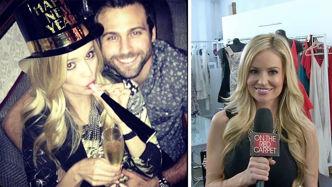 Former Bachelorette star Emily Maynard appears with her fiance, Tyler Johnson, in a Jan. 1, 2014 Instagram photo. The two got engaged on Jan. 4. / Former Bachelorette star Emily Maynard appears in a May 2013 interview with OTRC.com.