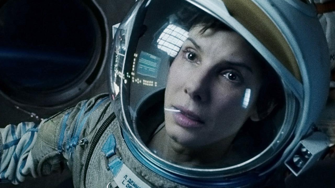 Sandra Bullock appears in a scene from the 2013 film Gravity.