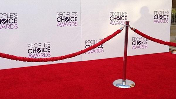 The red carpet at the 2014 Peoples Choice Awards on Jan. 8, 2014. - Provided courtesy of Tony Cabrera / OTRC