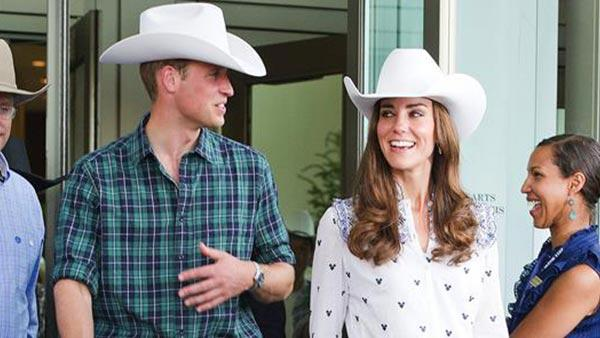 Kate Middleton and Prince William wear cowboy hats during a visit to the Rodeo at the BMO Convention Center in Calgary on July 7, 2011. - Provided courtesy of CHH / Startraksphoto.com