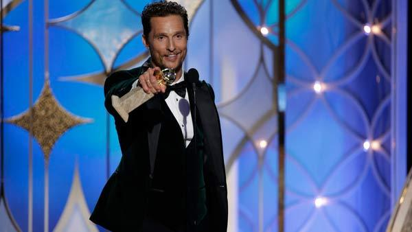 Matthew McConaughey, winner of Best Actor in a Motion Picture, Drama, Dallas Buyers Club at the 71st Annual Golden Globe Awards held at the Beverly Hilton Hotel on January 12, 2014. - Provided courtesy of Paul Drinkwater/NBC