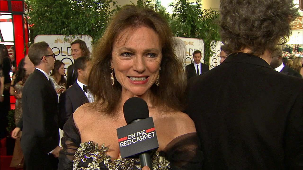 Jacqueline Bisset talks to OTRC.com on the red carpet at the 2014 Golden Globe Awards in Beverly Hills, California on Jan. 12.
