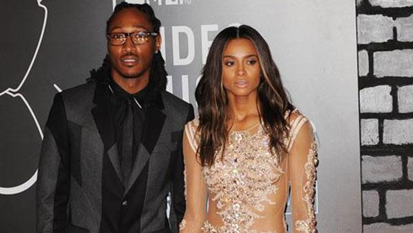 Ciara and Future attend the 2013 MTV Video Music Awards in New York on Aug. 25, 2013.