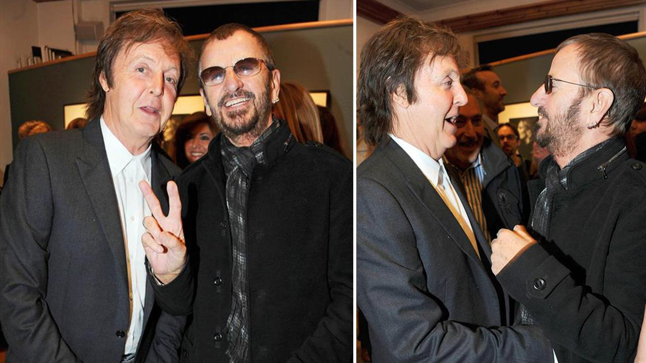 Paul McCartney and Ringo Starr appear at the launch of the former singers daughter Mary McCartneys book From Where I Stand in London on Oct. 21, 2010. Paul and Starr were confirmed as Grammy Awards 2014 performers on Jan. 14, 2014.