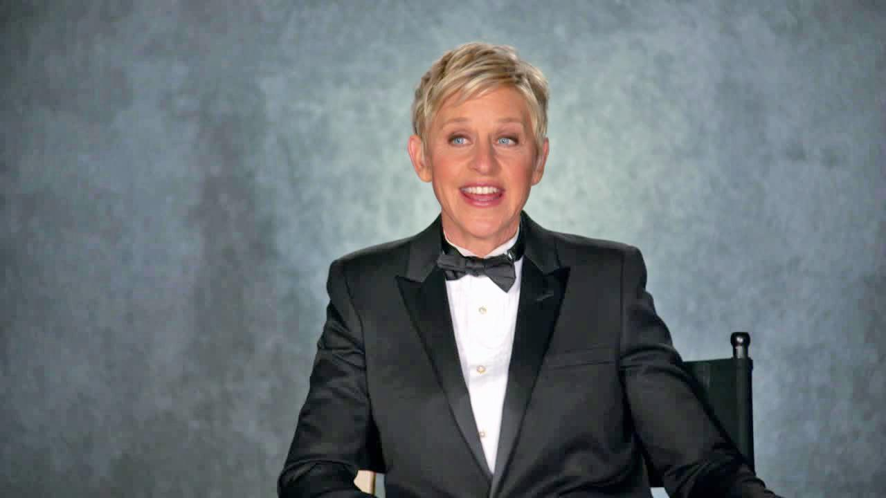 Ellen Degeneres appears in a promotional video for the 2014 Oscars.