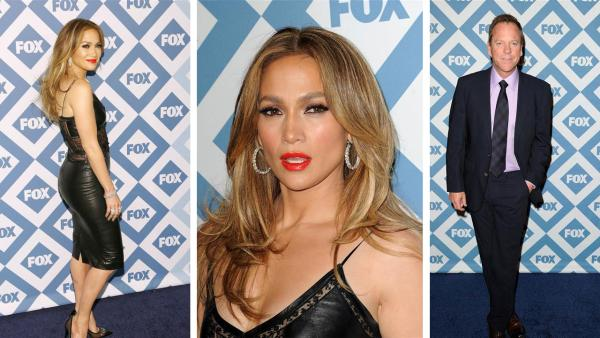 Jennifer Lopez and Kiefer Sutherland appear at the FOX Winter 2014 events all-star party at the Langham Hotel in Pasadena, California on Monday, Jan. 13, 2014. - Provided courtesy of OTRC / Daniel Robertson / Startraksphoto.com
