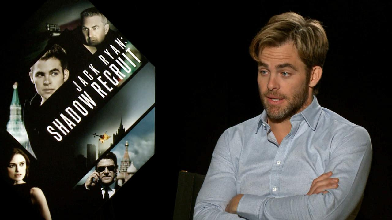 Chris Pine talks to OTRC.com about Jack Ryan: Shadow Recruit and Into The Woods on Jan. 10, 2014.