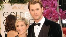 Chris Hemsworth and wife Elsa Pataky appear at the 71st Golden Globe Awards in Los Angeles on Jan. 12, 2014. - Provided courtesy of William Davila/startraksphoto.com