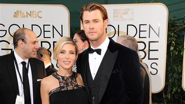 Chris Hemsworth and wife Elsa Pataky appear at the 71st Golden Globe Awards in Los Angeles on Jan. 12, 2014. - Provided courtesy of Sara De Boer/startraksphoto.com